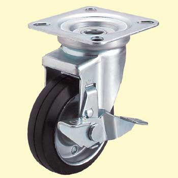 J-type universal car (rubber wheels and double bearing) with stopper