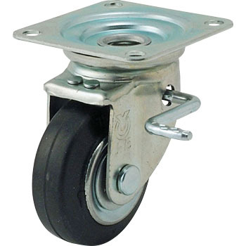 Jb Type Swivel Caster, Rubber Wheel , Double Bearing ) Lever Type With Double Stopper