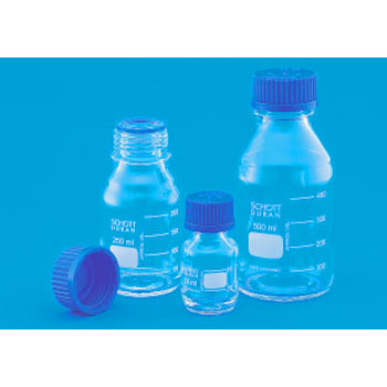 Screw Cap Bottle, Blue Cap