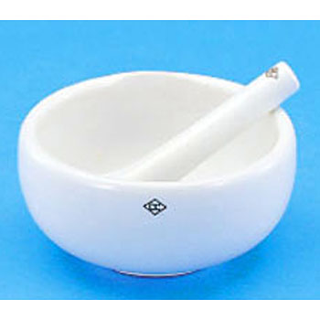 Porcelain Mortar, Pharmacy Style, Without Pestle