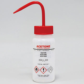 Chemical Identification Cleaning Bottles