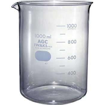 Glass Beaker, Approximate Scale