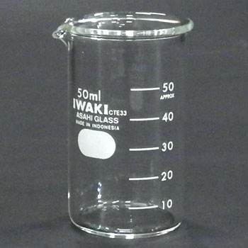 Approximate ScaleTall Beaker Glass