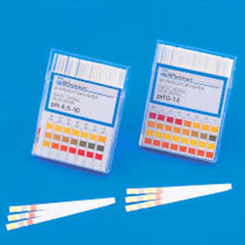 pH Test Paper, Strip Style, CF type, Pigment Chemical Bonding Strip