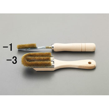 3 row brass brush