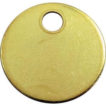 25mm Brass Tag, Blank