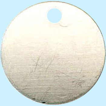 25mm Stainless Steel Tag, Blank