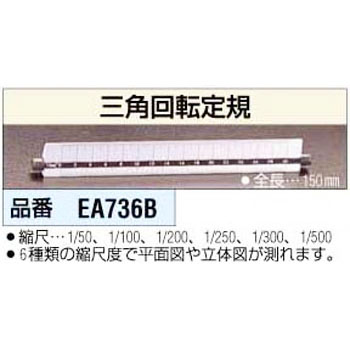 150 mm triangle rotation ruler