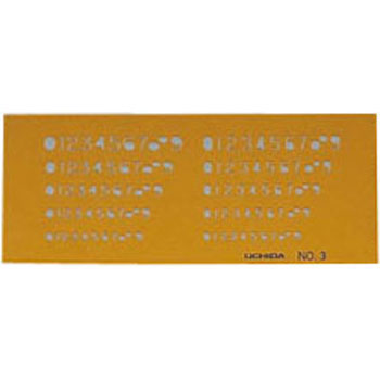 Numbers Stencil Ruler