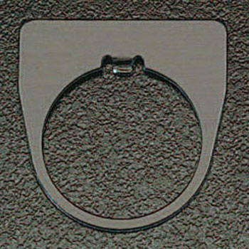 Plain, Nameplate 30mm Hole