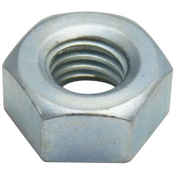 3/8 Inch, Hexagon nut, Iron, Uni-Chromium