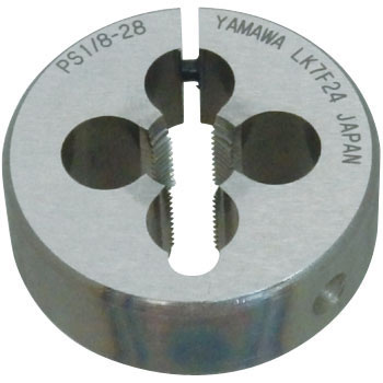 Adjustable dice for parallel pipe threads