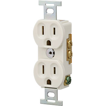 Grounding 15A Embedded Double Outlet
