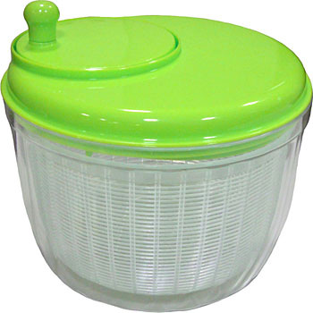 Vegetable draining device salad spinner