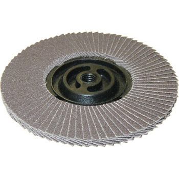 Screw type abrasive cloth disk
