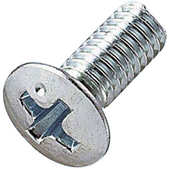 Oval Countersunk Head Head, Half-RoundMachine Screw, Iron/Uni- Chrome