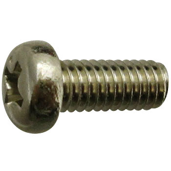 Pan Head Machine Screw, Brass And Nickel Plating