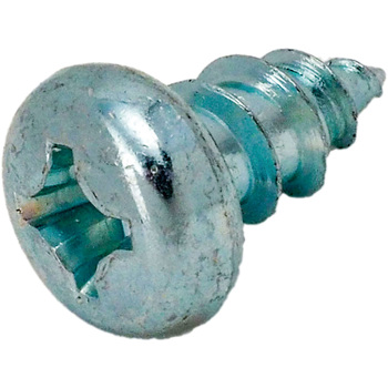 Pan Head Tapping Screw, Iron/Uni- Chrome