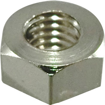 Hex Nut, Class 1, Brass / Nickel Plating