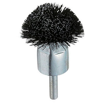 Umbrella shaped brush with attached axle
