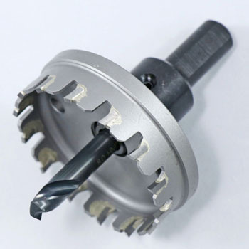 Carbide stainless steel hole cutter (with carbide chips)