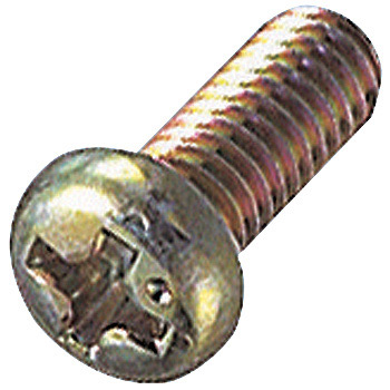 Pod Head Machine Screw, Iron/Chromate
