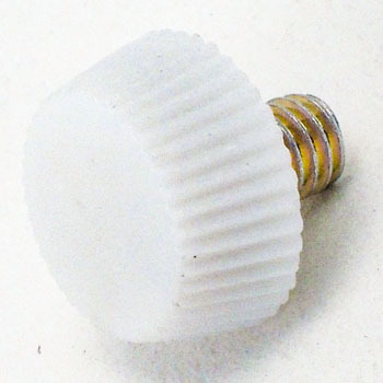 Painted Screw No.1 White, Iron/Chromate