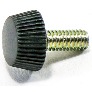 Painted Screw No.1 Black, Iron/Chromate