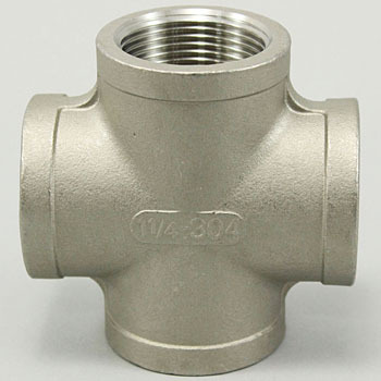 Cross Stainless Steel Made Threaded Pipe Joints