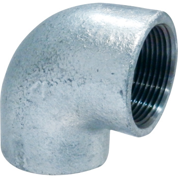 Elbow Malleable Cast Pipe Fitting. White