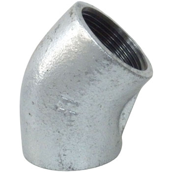 45 Degree Elbow Malleable Cast Pipe Fitting White