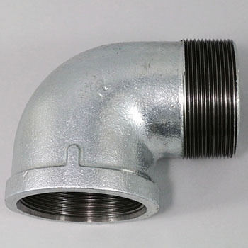 Street Elbow Malleable Cast Pipe Fitting White