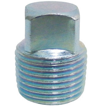 Plug Iron Pipe Coupling, White