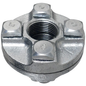 Flange Union Malleable Cast Pipe Fitting White