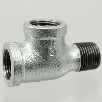 Service Tees Malleable Cast Pipe Fitting White