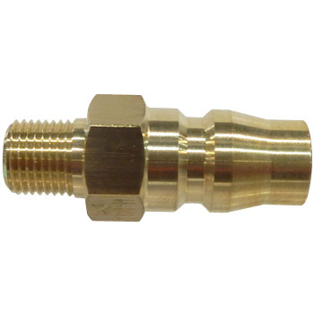 Hi Cupla Brass Plug, Male Thread