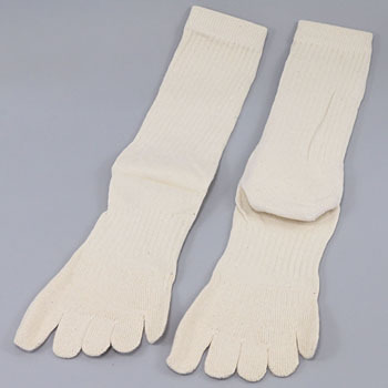 Unconstrained Five Fingers Socks, With The Heel