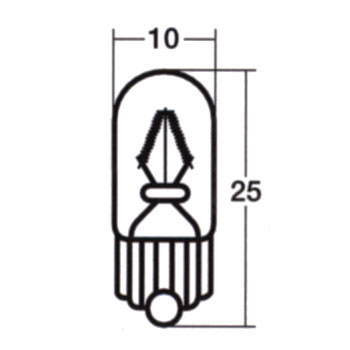 Wedge Base Bulb 12V Single