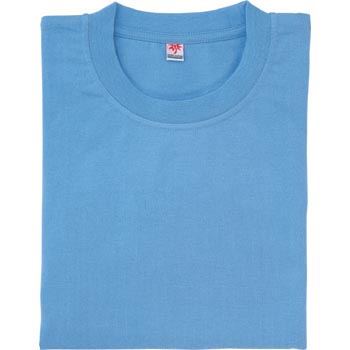 short-sleeved pocketless T-shirt