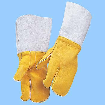 Welding Gloves, Front Leather