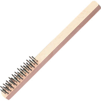 255mm 4-line, White, Wire Brush