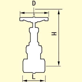 Mareburu general purpose 10K type gate valve (screwed)
