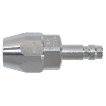 Minicock plug PN type (for small diameter rubber hose mounting)