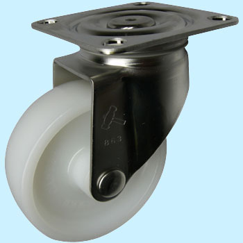 Stainless Steel 320S, Swivel Caster, Nylon Wheel,