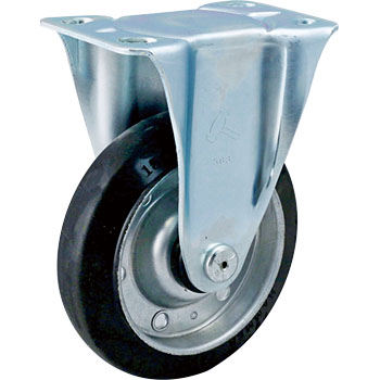SR 400 Rigid Caster , Input B, Rubber Wheels,