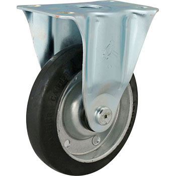 420SR Rigid Caster, griddle wheel rubber rolling, with Bwheel