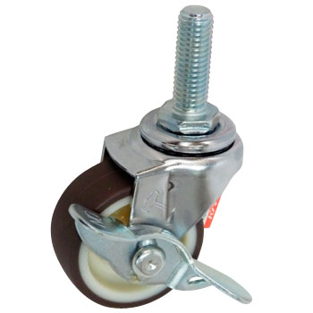Screw Type 415EA Swivel Caster, Nylon Wheel Urethane Rolling Wheel, With A Stopper