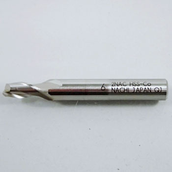 Nattack end mill, double bladed