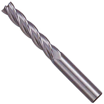 Super hard regular shank long end mill, 4 blades