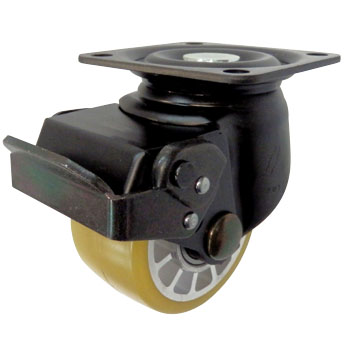 545S Swivel Caster, Urethane, With Ball B, Wheel, for Low-Floor Heavy Loads, With Stopper